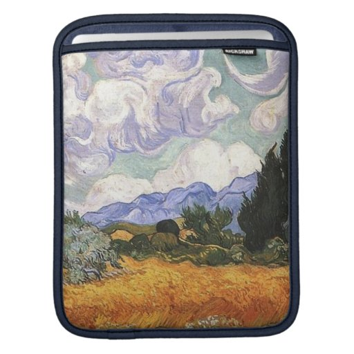 Wheat Field with Cypress by Van Gogh. Sleeves For iPads
