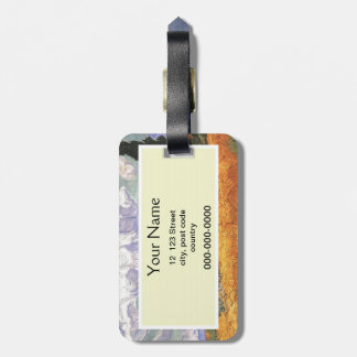 Wheat Field with Cypress by Van Gogh. Luggage Tag