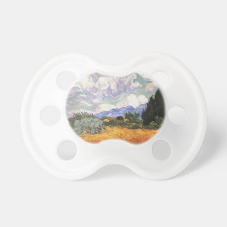 Wheat Field with Cypress by Van Gogh. Baby Pacifiers