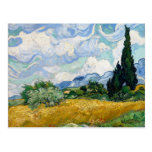 Wheat Field with Cypresses by Van Gogh Postcards