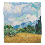 Wheat Field with Cypresses by Vincent van Gogh Bandana