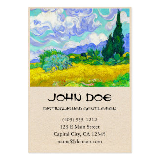 Wheat Field with Cypresses by Vincent Van Gogh Business Card