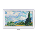 Wheat Field with Cypresses by Vincent van Gogh Business Card Holder