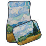 Wheat Field with Cypresses by Vincent van Gogh Car Mat