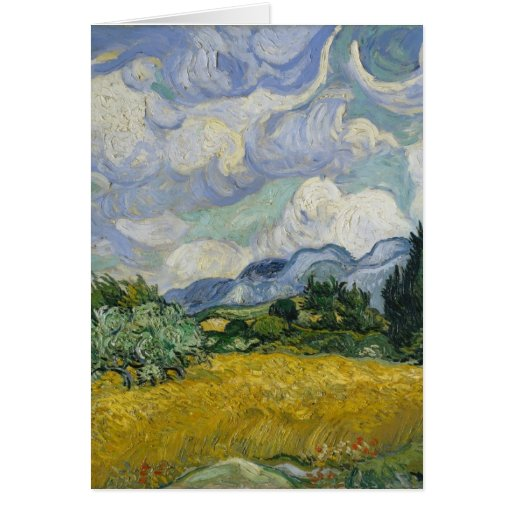 Wheat Field with Cypresses by Vincent van Gogh Cards