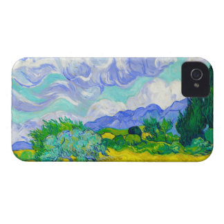 Wheat Field with Cypresses by Vincent Van Gogh iPhone 4 Cover