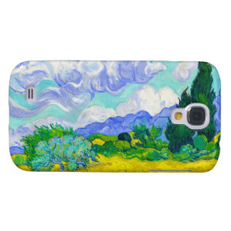 Wheat Field with Cypresses by Vincent Van Gogh Galaxy S4 Covers