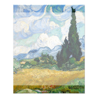 Wheat Field with Cypresses by Vincent Van Gogh Flyer