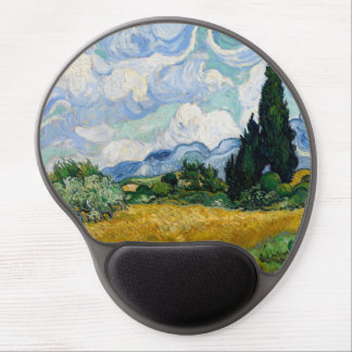 Wheat Field with Cypresses by Vincent Van Gogh Gel Mouse Pad