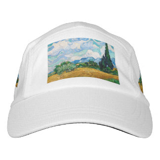Wheat Field with Cypresses by Vincent van Gogh Headsweats Hat