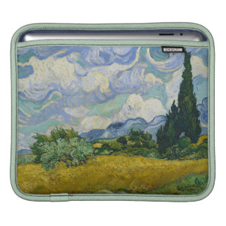 Wheat Field with Cypresses by Vincent van Gogh iPad Sleeves