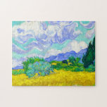 """Wheat Field with Cypresses by Vincent Van Gogh Jigsaw Puzzle<br><div class=""""desc"""">Wheat Field with Cypresses by Vincent Van Gogh</div>"""