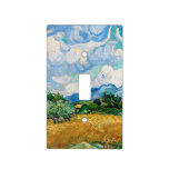 Wheat Field with Cypresses by Vincent van Gogh Light Switch Cover