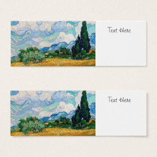 Wheat Field with Cypresses by Vincent van Gogh Mini Business Card