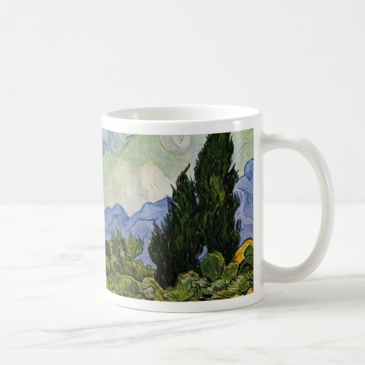 Wheat Field With Cypresses By Vincent Van Gogh Mugs