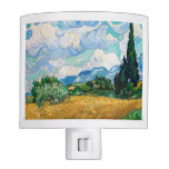 Wheat Field with Cypresses by Vincent van Gogh Night Light