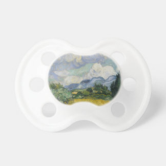 Wheat Field with Cypresses by Vincent van Gogh Baby Pacifier