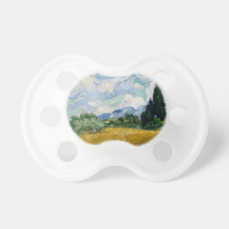 Wheat Field with Cypresses by Vincent Van Gogh Baby Pacifiers
