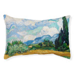 Wheat Field with Cypresses by Vincent van Gogh Pet Bed