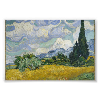 Wheat Field with Cypresses by Vincent van Gogh Photo Print