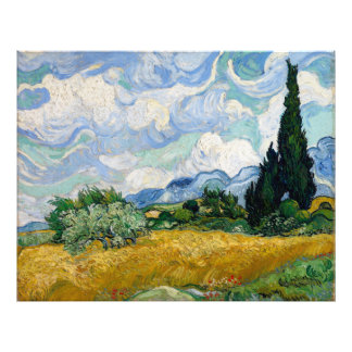 Wheat Field with Cypresses by Vincent Van Gogh Art Photo