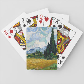 Wheat Field with Cypresses by Vincent Van Gogh Poker Deck