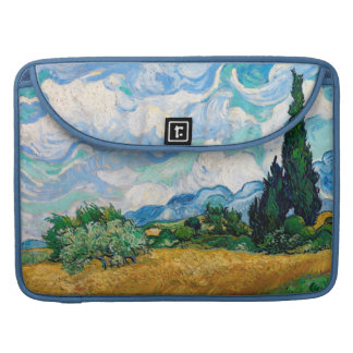 Wheat Field with Cypresses by Vincent van Gogh Sleeve For MacBook Pro
