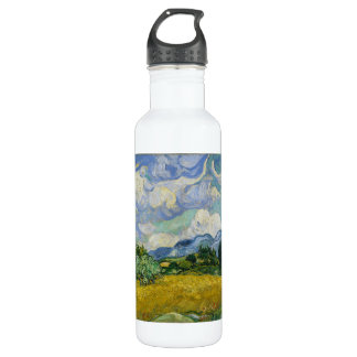 Wheat Field with Cypresses by Vincent van Gogh Stainless Steel Water Bottle