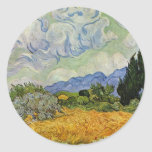 Wheat Field With Cypresses By Vincent Van Gogh Stickers