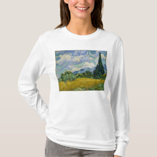 Wheat Field with Cypresses by Vincent van Gogh T-Shirt