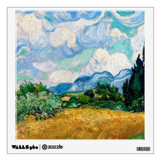 Wheat Field with Cypresses by Vincent van Gogh Wall Sticker