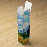 Wheat Field with Cypresses by Vincent van Gogh Wine Gift Box