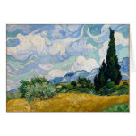 Wheat Field with Cypresses Card