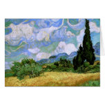 Wheat Field with Cypresses (F717)Van Gogh Fine Art Card