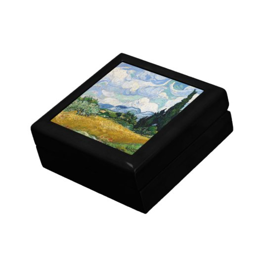 Wheat Field with Cypresses Gift Box