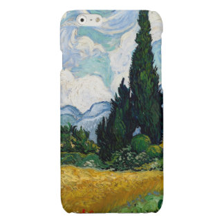 Wheat Field with Cypresses Glossy iPhone 6 Case