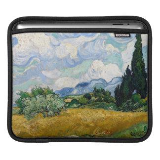 Wheat Field with Cypresses iPad Sleeve