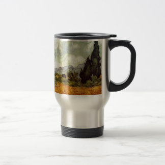 Wheat Field with Cypresses Travel Mug