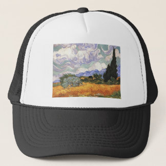 Wheat Field with Cypresses Trucker Hat