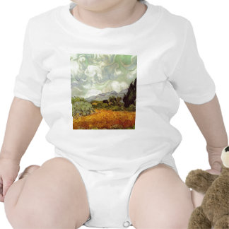 Wheat Field with Cypresses T-shirts
