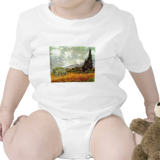 Wheat Field with Cypresses T Shirt