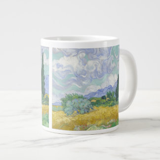 Wheat Field with Cypresses Van Gogh Fine Art Large Coffee Mug