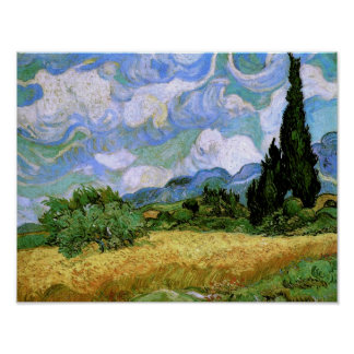 Wheat Field with Cypresses Van Gogh Fine Art Poster