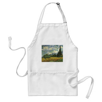 Wheat Field with Cypresses,Vincent Van Gogh Adult Apron