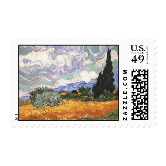 Wheat Field with Cypresses,Vincent Van Gogh Postage