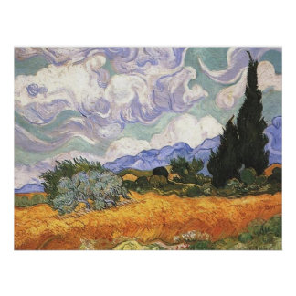 Wheat Field with Cypresses,Vincent Van Gogh Print