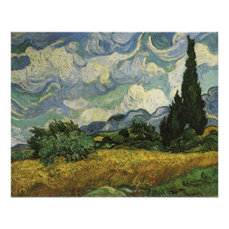 Wheat Field with Cypresses,Vincent Van Gogh Poster