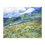 Wheat Field with Mountains by van Gogh Gallery Wrapped Canvas