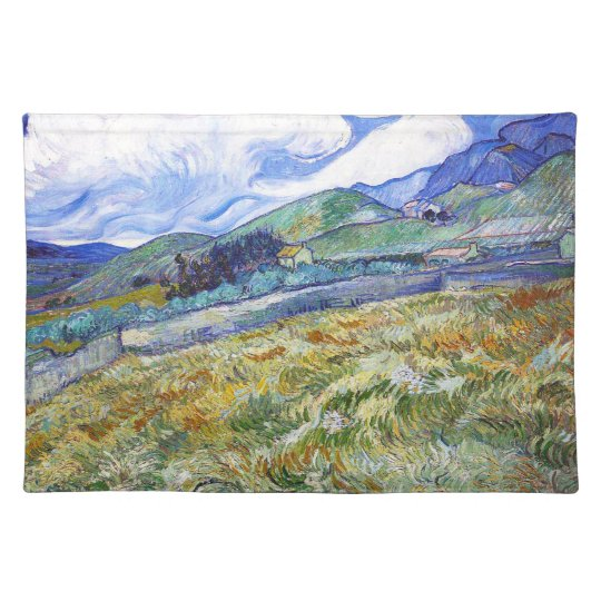 Wheat Field with Mountains in the Background Placemat