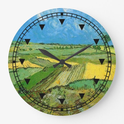 Wheat Fields at Auvers Under Clouded Sky Wall Clocks